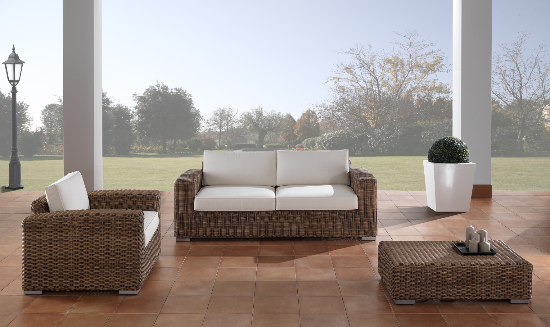 Poltrona polyrattan for Offerte mobili da esterno