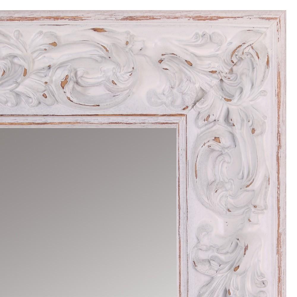 Specchio Da Terra Legno Bianco Decapato Outlet Mobili Etnici