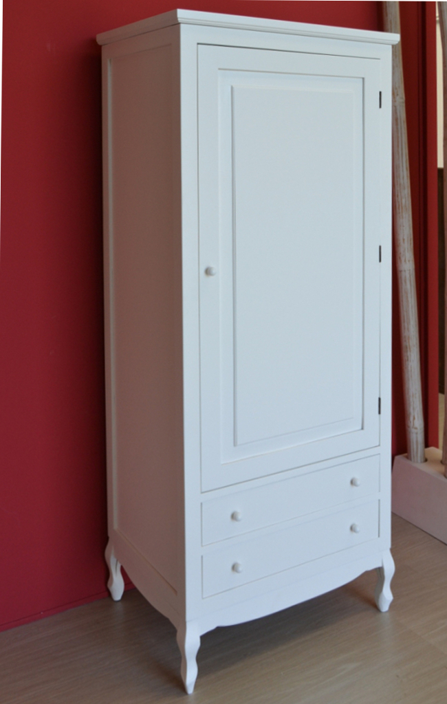Armadio legno bianco provenzale novit e offerte for Armadio shabby