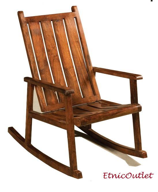 Sedia dondolo in legno massello sedie orientali online - Sedia a dondolo prezzi ...