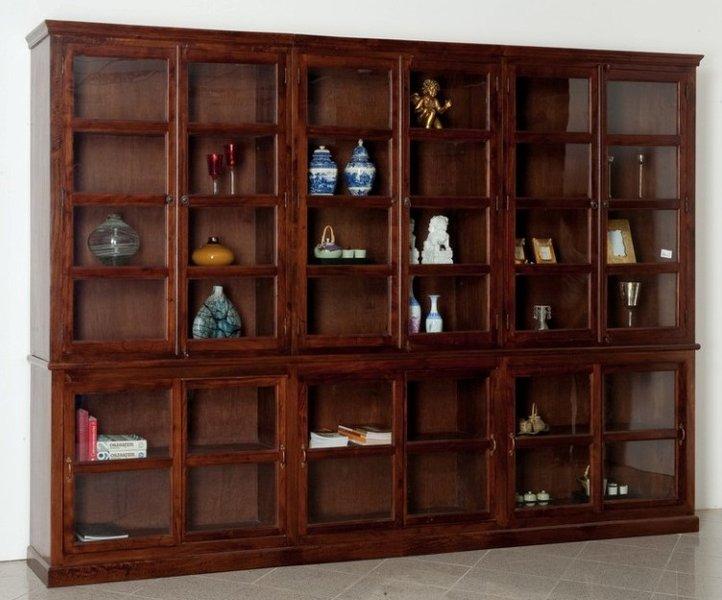 Libreria maxi legno massello etnica Librerie etniche online