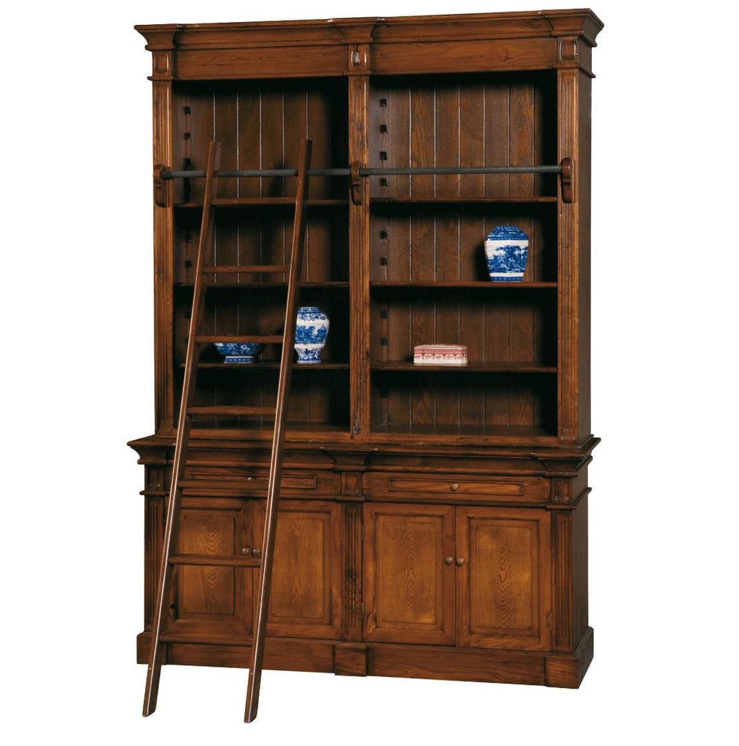 Libreria in legno con scala etnico outlet mobili etnici for Scala libreria