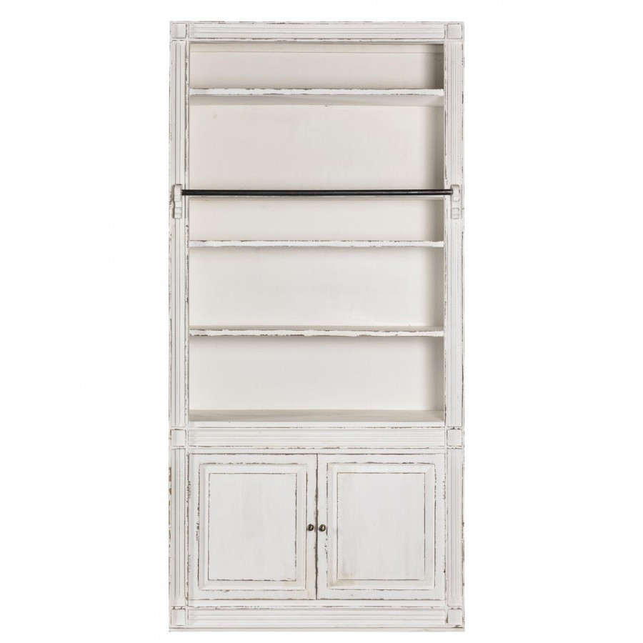 Scala legno bianco shabby sale per librerie legno bianche for Scala in legno shabby
