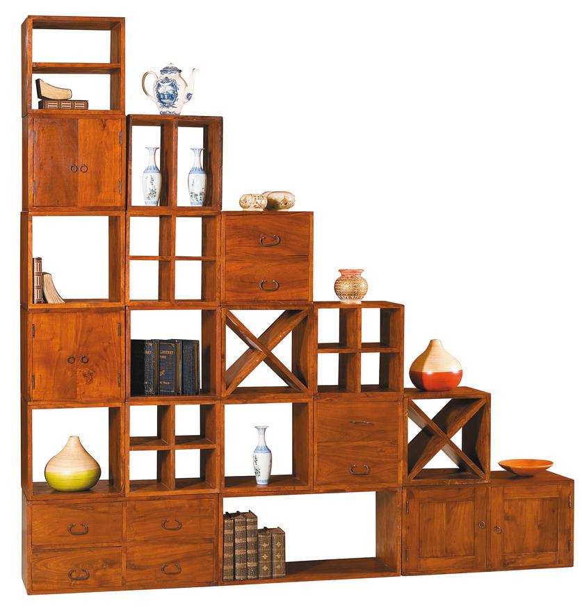 Cubo per libreria etnica componibile etnico outlet mobili for Librerie in legno componibili