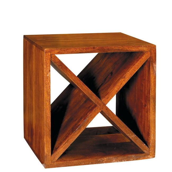 Cubo in legno massello cubi etnici librerie for Cubi in legno arredamento