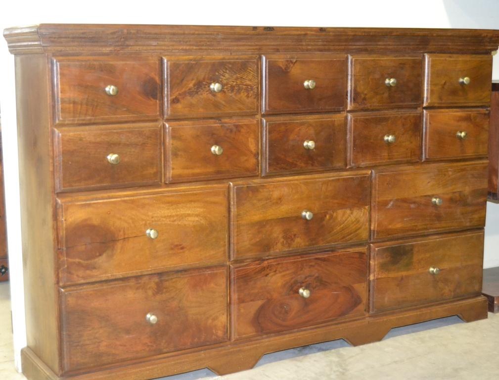 cassettiera legno massello 16 cassetti outlet mobili etnici