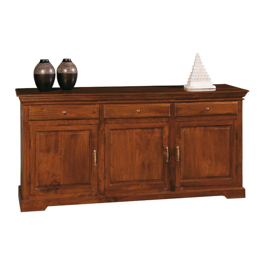 Credenza etnica in legno massello mobili etnici for Credenza colorata