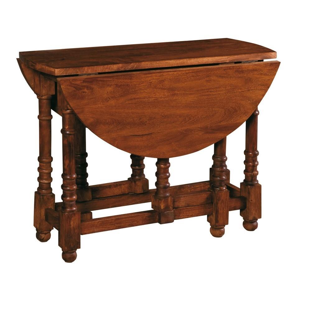 Tavolo tondo in legno diam 100cm etnico outlet mobili etnici for Tavolo tondo legno