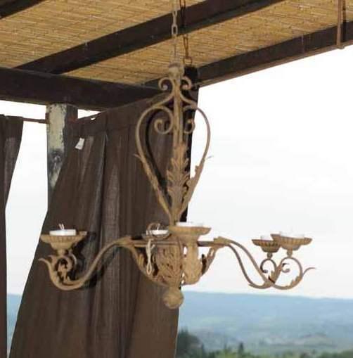 candele per lampadari : Lampadario portacandele brunito Etnico Outlet mobili etnici