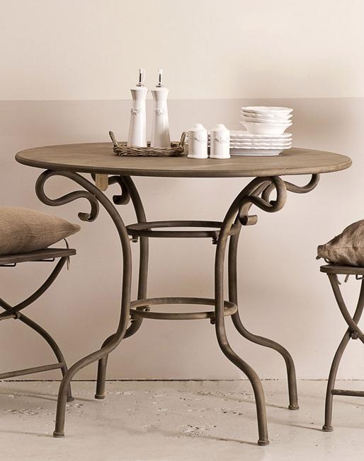 tavolo rotondo in ferro brunito etnico outlet mobili etnici