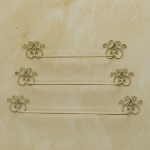 Set 3 portasciugamano ferro for Accessori bagno bianchi