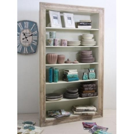 Libreria legno bianca shabby mobili provenzali online for Librerie economiche on line