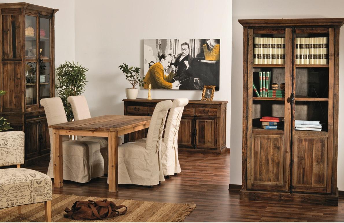 Tavolo etnico legno naturale etnico outlet mobili etnici for Arredamento legno naturale