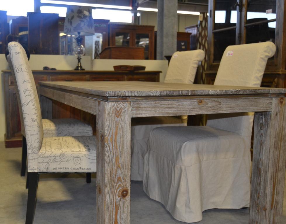 Tavolo etnico legno naturale da 180 etnico outlet mobili etnici - Tavolo legno naturale ...