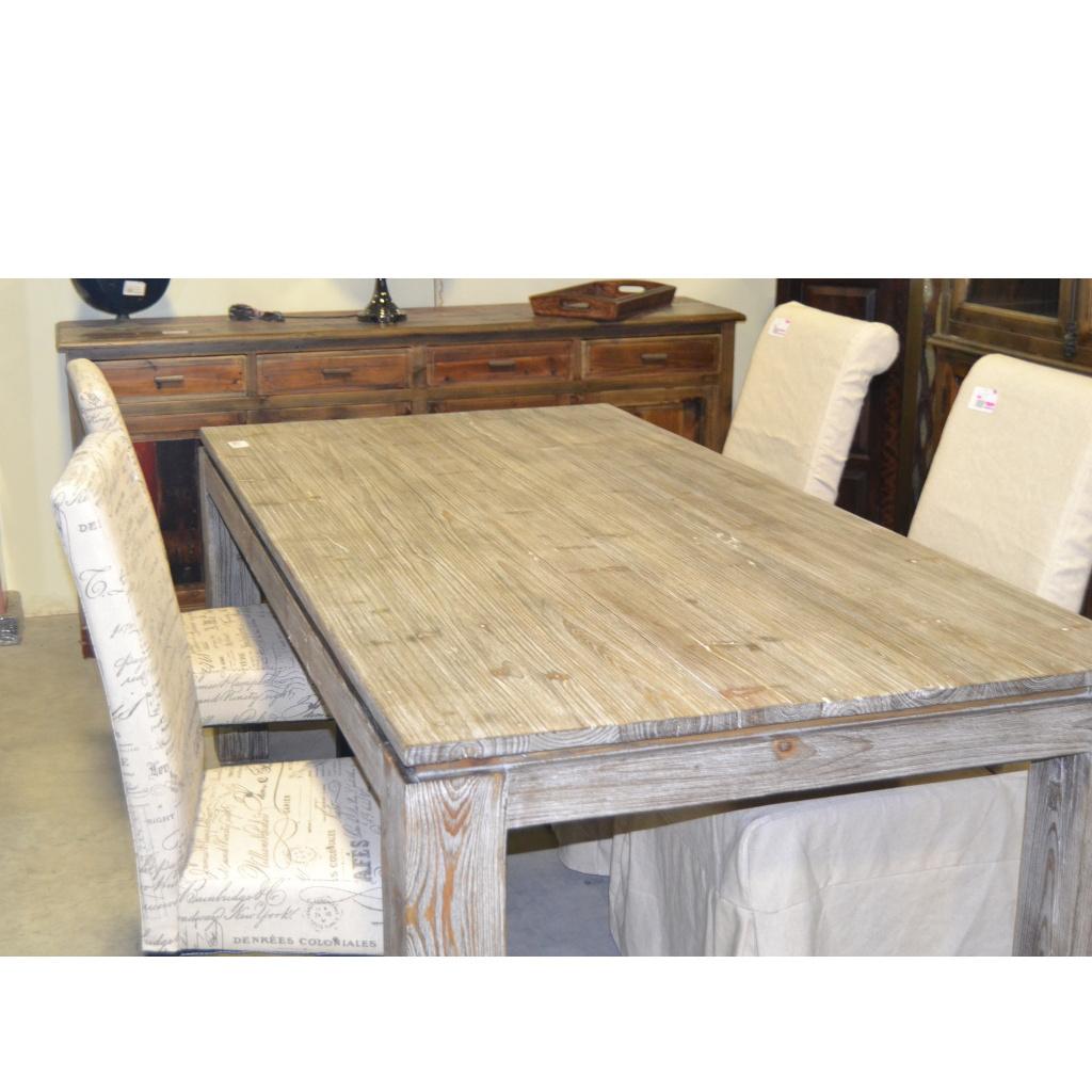 Tavolo etnico legno naturale da 180 etnico outlet mobili for Tavoli estensibili in legno