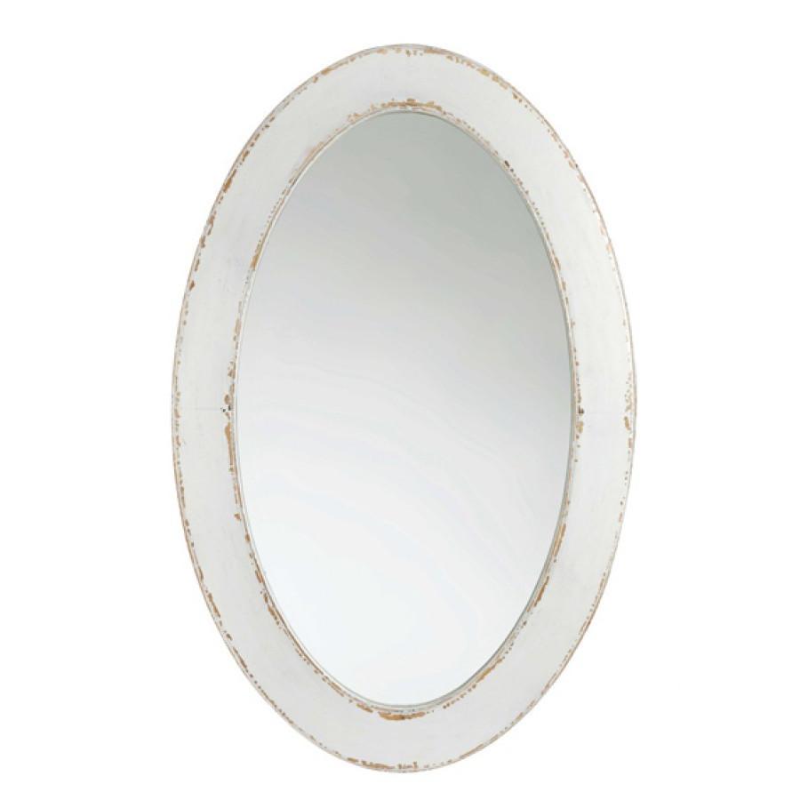 Specchio legno bianco shabby chic - Specchio romantico riflessi prezzo ...