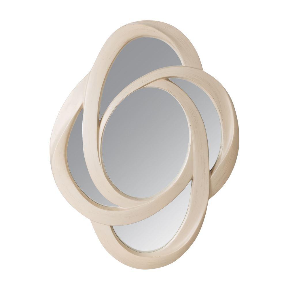 Specchio legno bianco shabby chic etnico outlet mobili - Specchio bianco ...