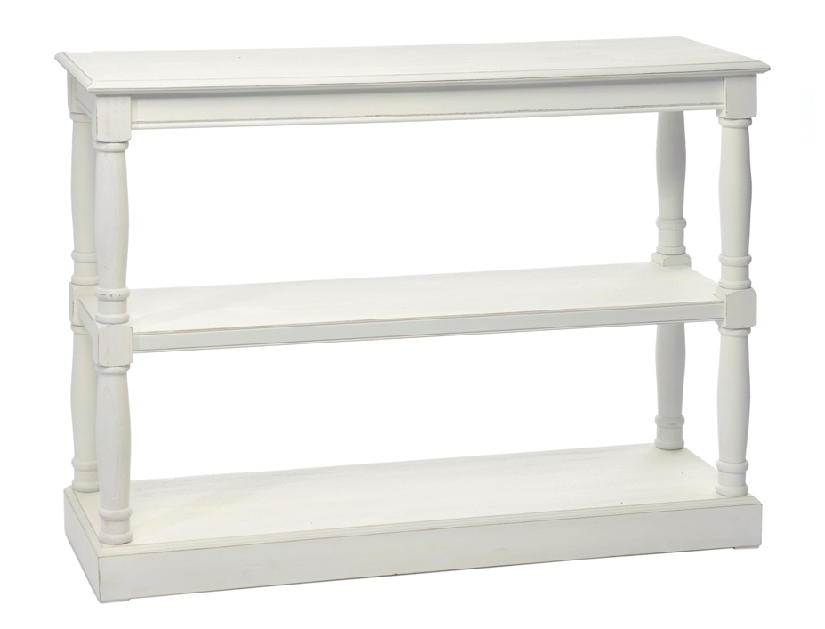 Consolle libreria bianca shabby chic etnico outlet mobili for Consolle shabby chic