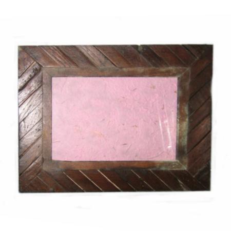 Portafoto etnico cornice listelli legno int 15x20 for Cornici 15x20