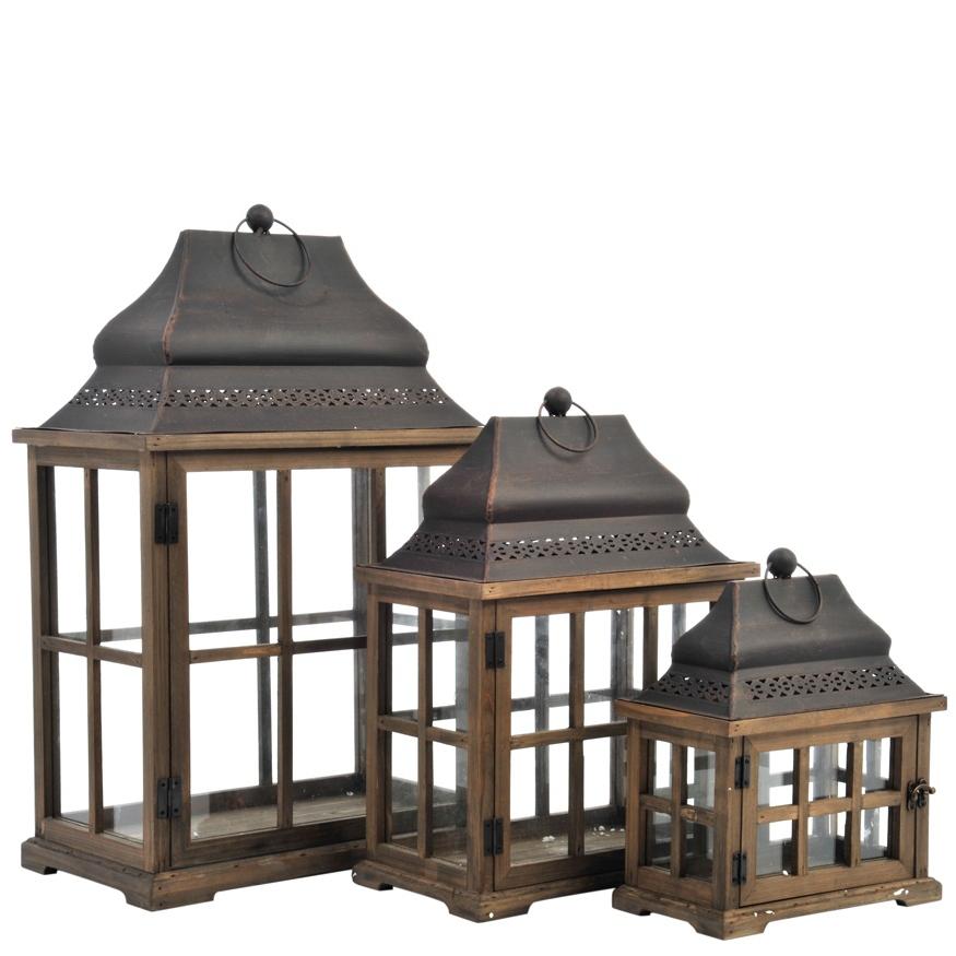 Lanterna provenzale grande etnico outlet mobili etnici for Lanterne in legno