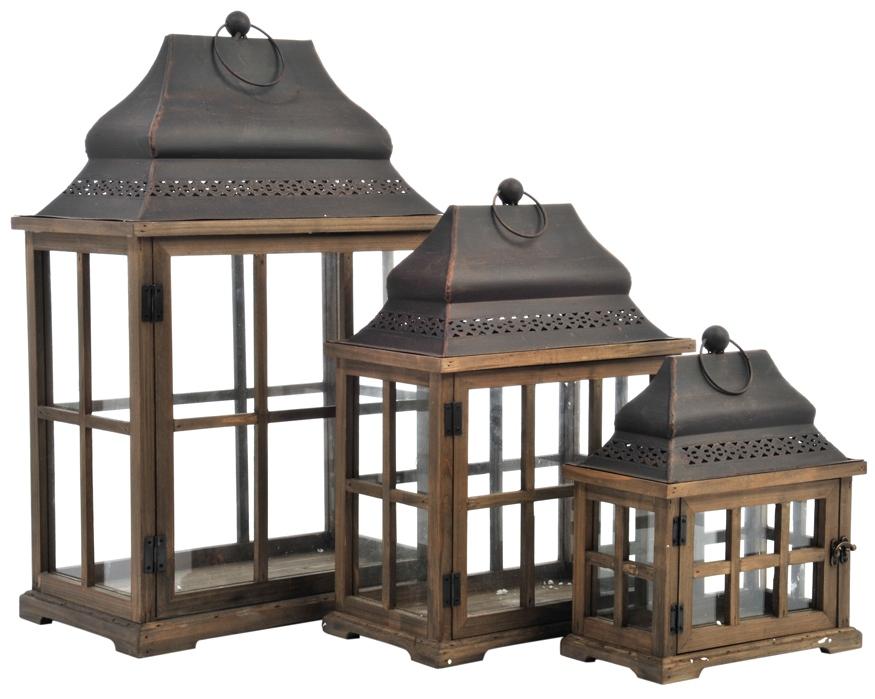 Lanterna provenzale piccola etnico outlet mobili etnici for Lanterne in legno