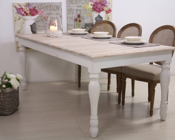 tavolo legno bianco shabby chic tavoli provenzali online