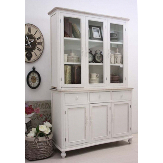 Credenza provenzale bianca librerie shabby chic for Mobili stile shabby ikea