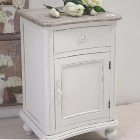 comodino provenzale bianco shabby chic comodini legno