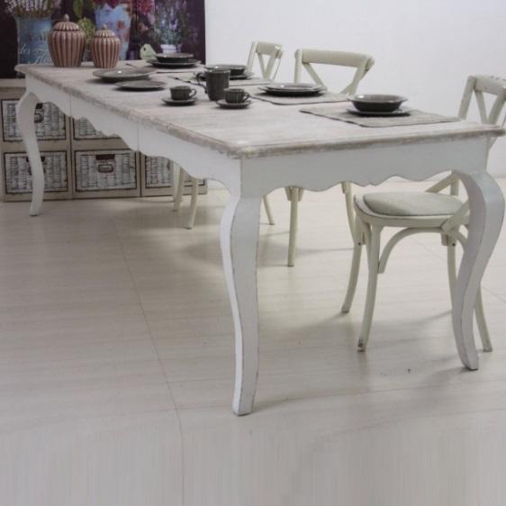 Tavolo Bianco Stile Provenzale.Tavolo Provenzale Shabby Chic Etnicoutlet Mobili Etnici