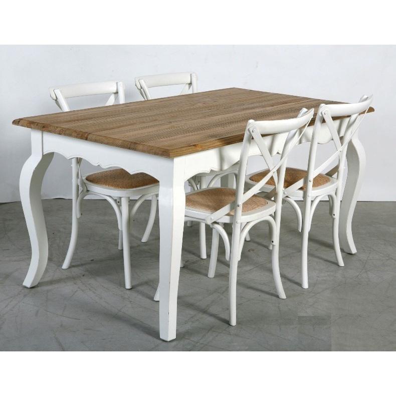 Tavolo legno bianco shabby chic tavoli legno massello for Sedie shabby chic ikea
