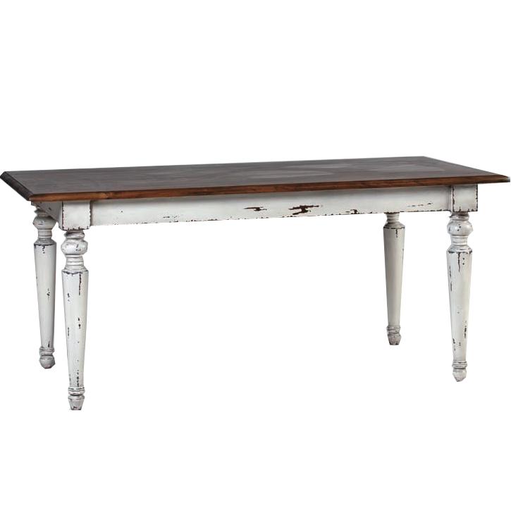 Tavolo legno decapato shabby tavoli legno bianchi - Tavolo bianco shabby chic ...