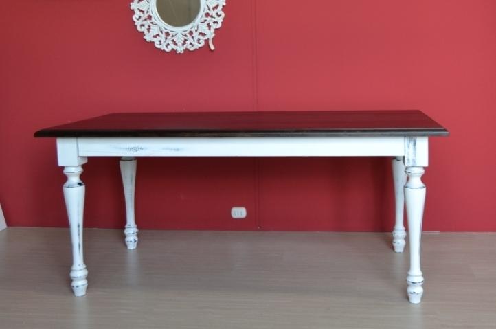 Tavolo legno decapato shabby tavoli legno bianchi - Tavolo decapato ...