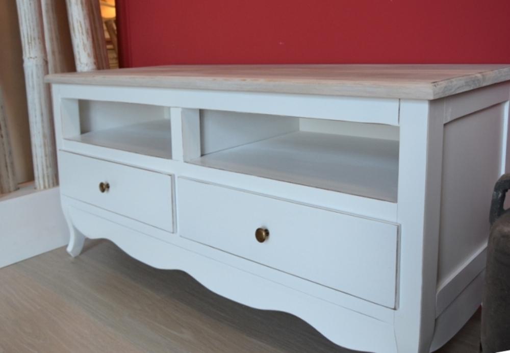 porta tv legno bianco shabby chic mobili provenzali legno