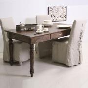 Divano francese in lino bianco divani provenzali online - Tavolo decapato ...
