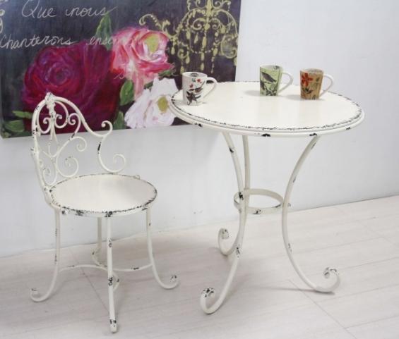 Tavolo provenzale in ferro tavoli francesi giardino - Mobili in ferro vintage ...