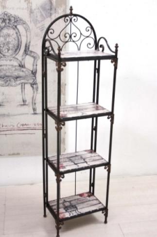 Scaffale ferro vintage chic etnico outlet mobili etnici - Mobili in ferro battuto per bagno ...