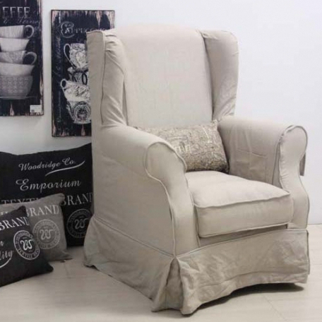 Poltrona provenzale corda etnico outlet mobili etnici for Poltrone shabby