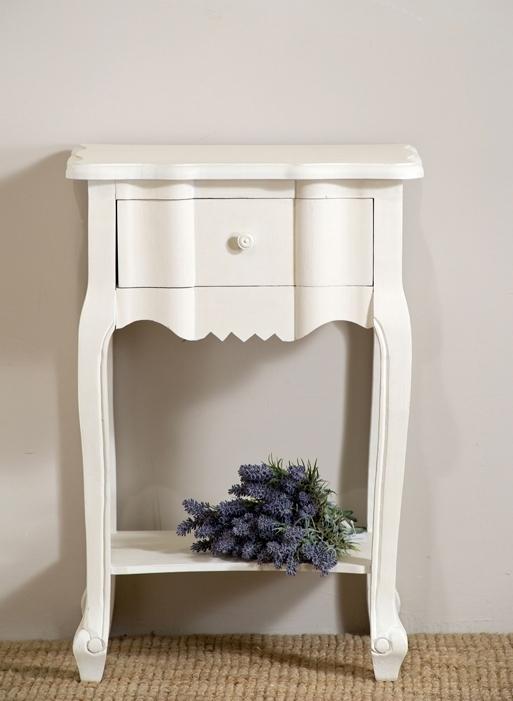 Comodino provenzale bianco mobili shabby chic online for Comodini shabby ikea