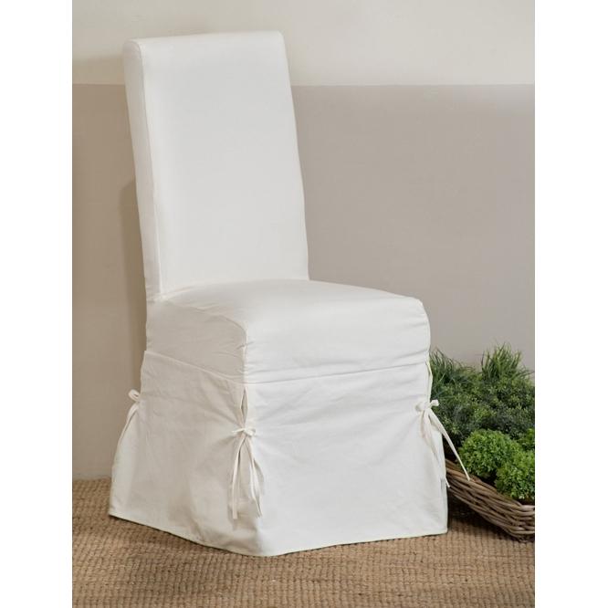 Sedia vestita provenzale bianca sedie provenzali for Sedie vestite design