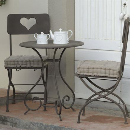 Sedia provenzale ferro brunita offerte sedie giardino for Sedia a dondolo provenzale