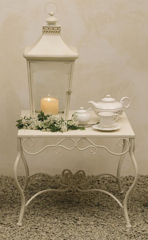 Tavolo da the ferro battuto bianco mobili bianchi giardino - Tavolo ferro giardino ...