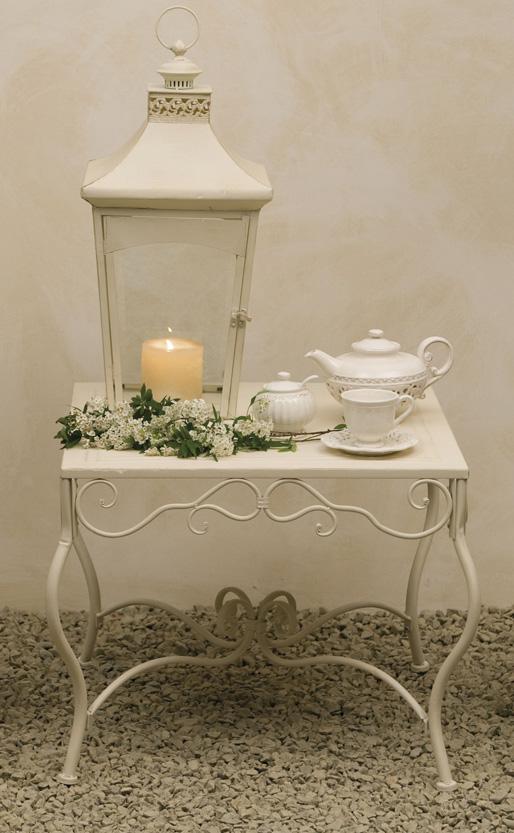 Tavolo da the ferro battuto bianco mobili bianchi giardino for Mobili da giardino in ferro antichi