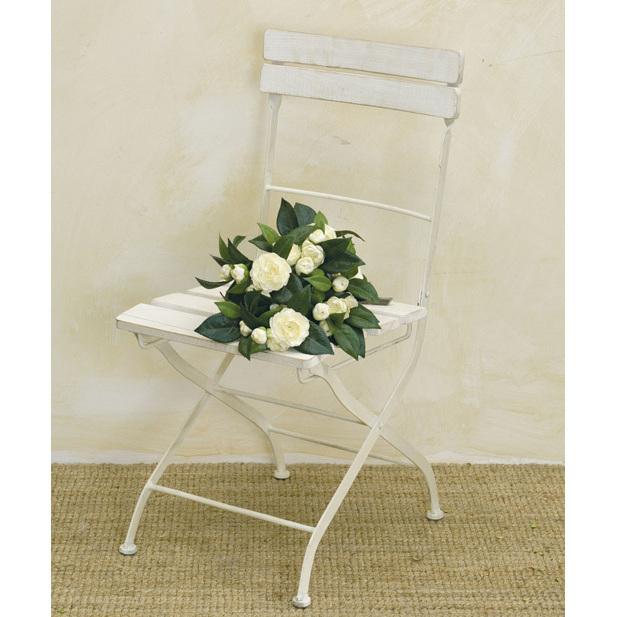 Sedia pieghevole legno bianco sedie provenzali online for Sedie on line outlet