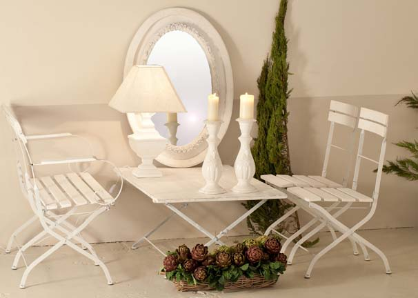 Sedia pieghevole legno bianco sedie provenzali online for Sedie pieghevoli legno