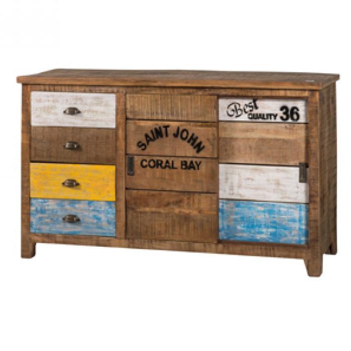 Credenza multicolor legno riciclato Mobili vintage online