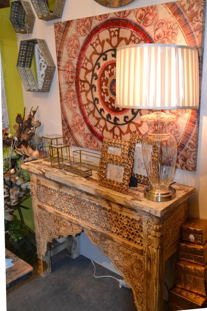 Consolle etnica legno decapata etnico outlet mobili etnici for Consolle legno