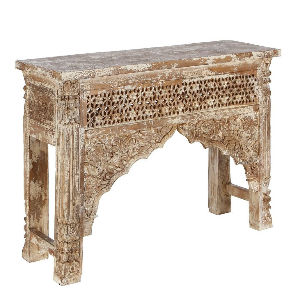 Consolle etnica legno decapata etnico outlet mobili etnici - Mueble arabe ...