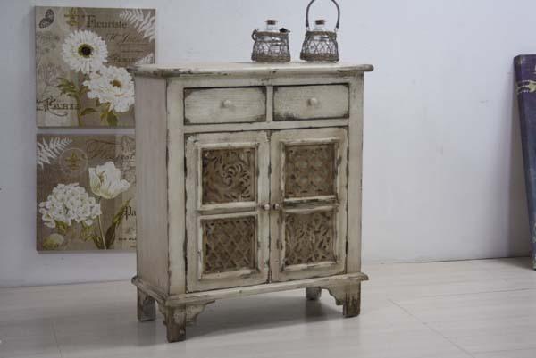 Buffet legno bianco antico decapato - Etnico Outlet mobili etnici