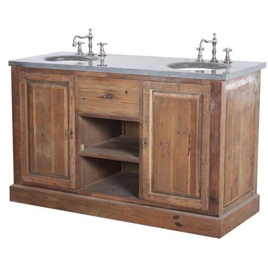 Mobile bagno etnico doppio mobili etnici online - Bagno rustico in legno ...