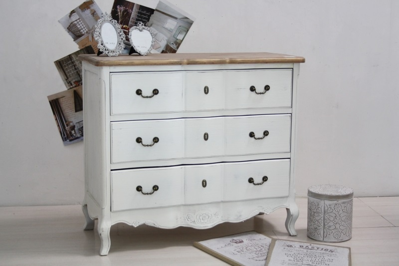 Cassettiera shabby chic - Etnico Outlet Mobili Etnici